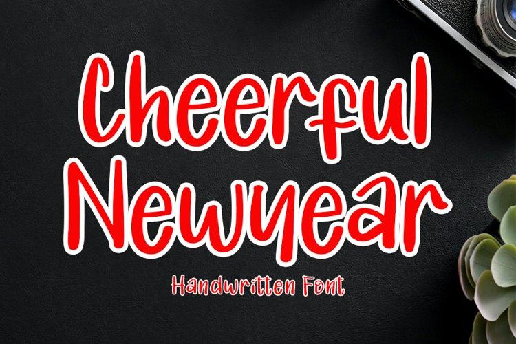 Cheerful Newyear - Modern Handwritten Font example image 1
