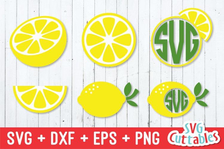 Lemon SVG | Lemon Monogram Frame