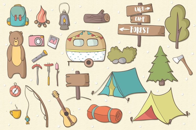 Lets Go Camping - Free Design of The Week Design0