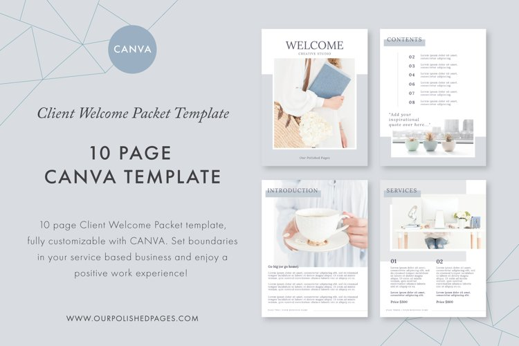 Client Welcome Packet Canva Template example image 1