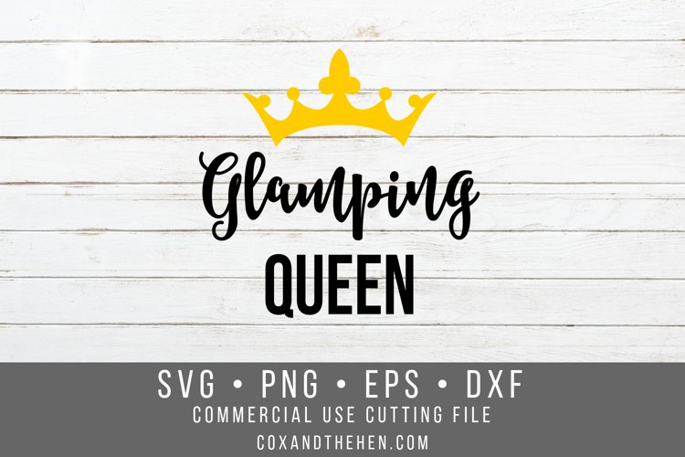 Glamping Queen SVG example image 1
