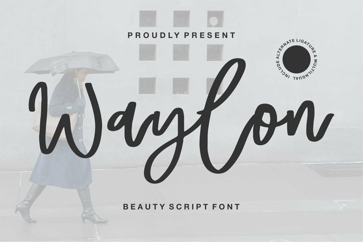 Web Font Waylon - Beauty Script Font example image 1
