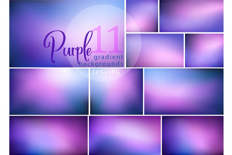 11 of Purple gradient backgrounds example image 1