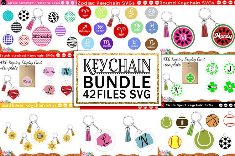 Keychain huge bundle | keyring SVG file for crafter