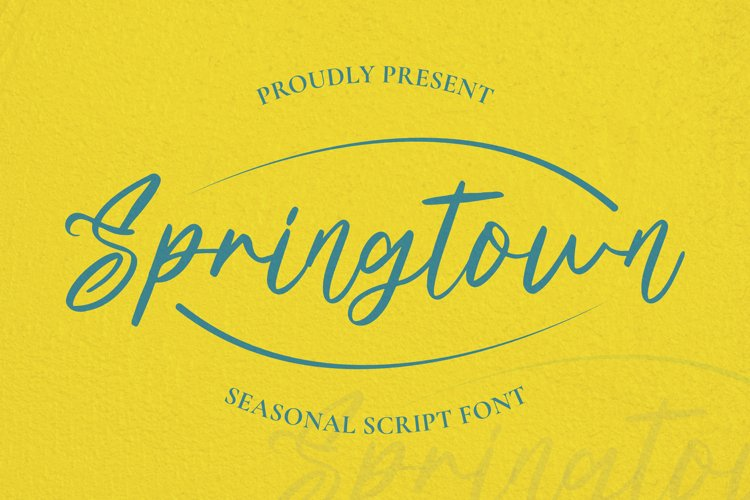 Springtown Font example image 1