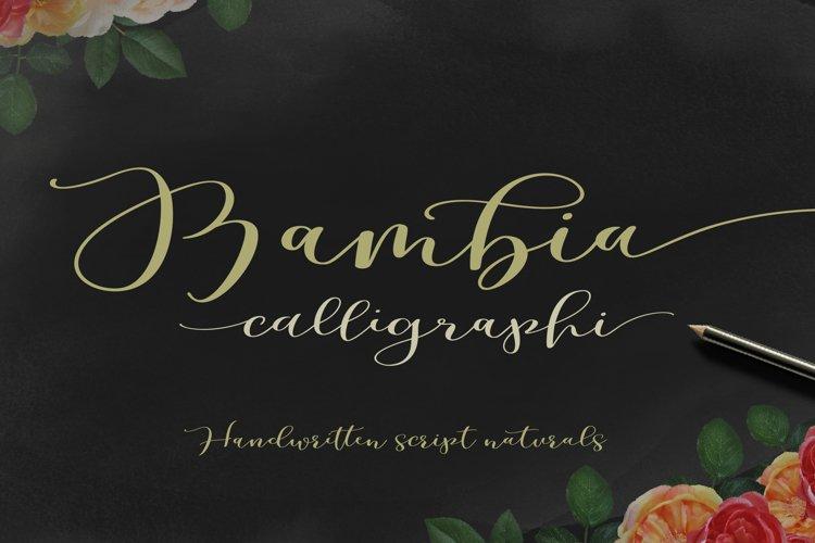 Bambia Calligraphy example image 1