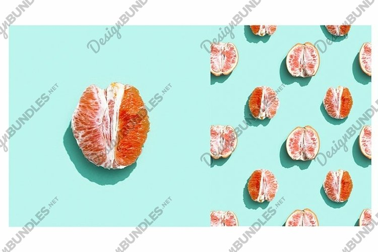 Bright grapefruit or red orange, minimal concept example image 1