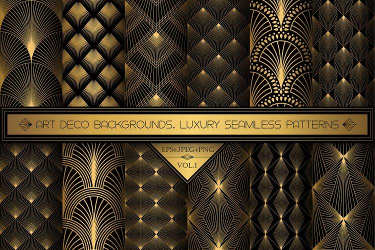 Art Deco Wallpapers Pack   PNG EPS JPG   Vol.1 example image 1