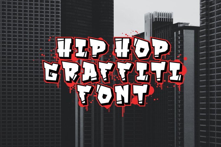Hip hop font / graffiti font.