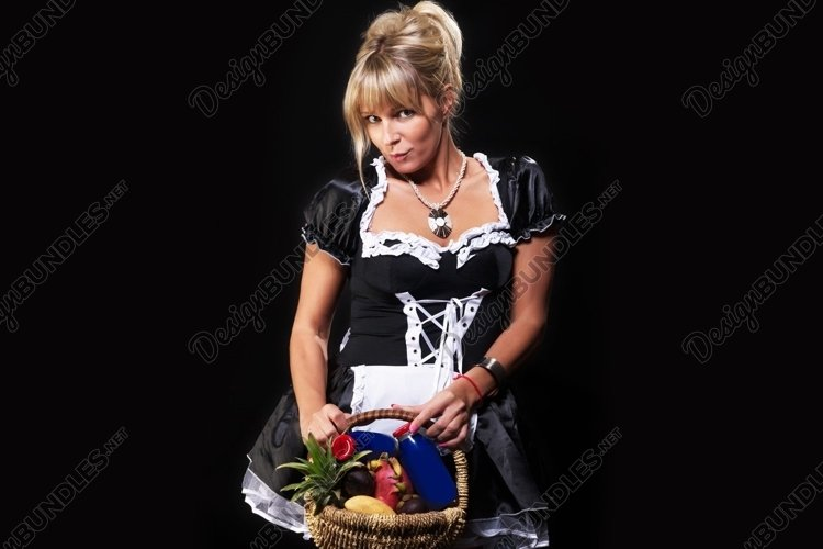girl, glass, maid, juice, advertising, glass example image 1