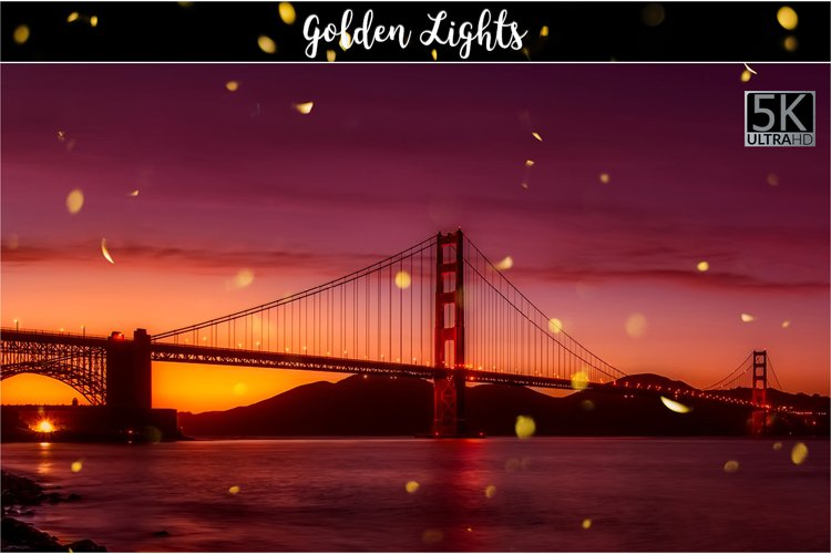5K Golden Lights Overlays example image 1
