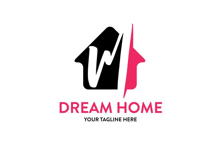 M letter house logo example image 1