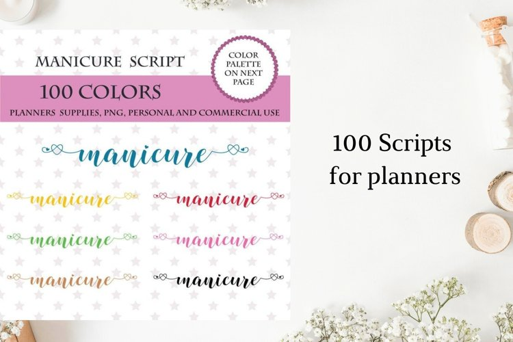 Manicure font clipart, Nail Appointment Sticker, Me time example image 1