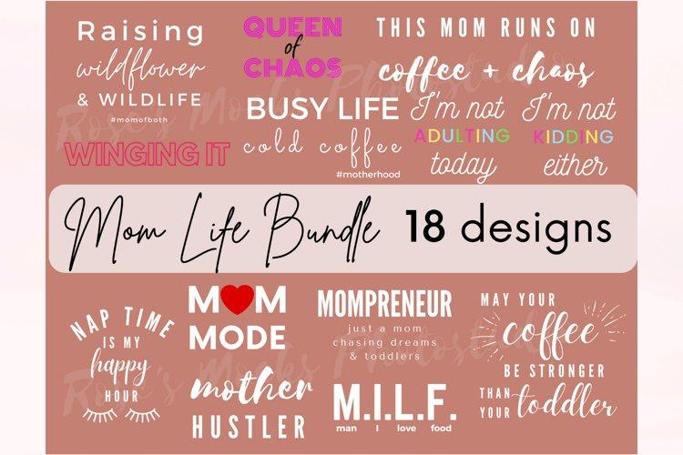 Mom Life SVG Bundle - Mom Bundle - Mothers Day Bundle SVG example image 1
