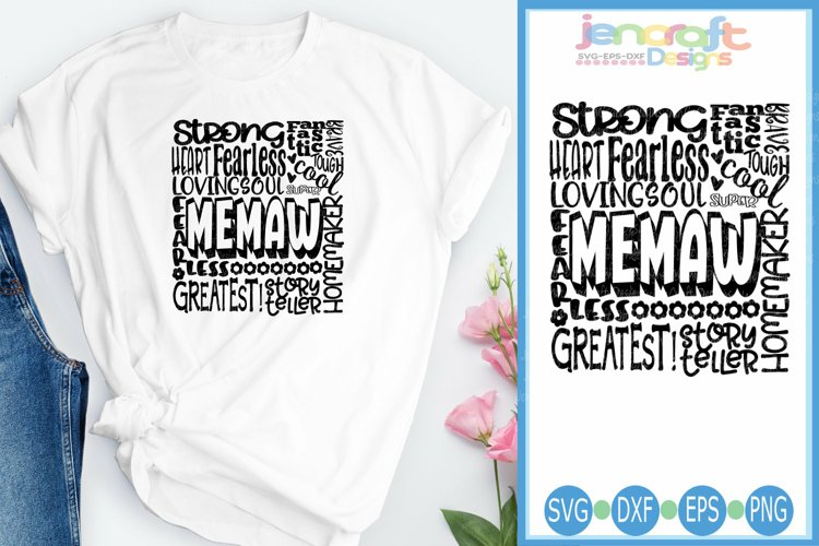 Memaw SVG, Mothers Day SVG, typography word art Svg, Eps,