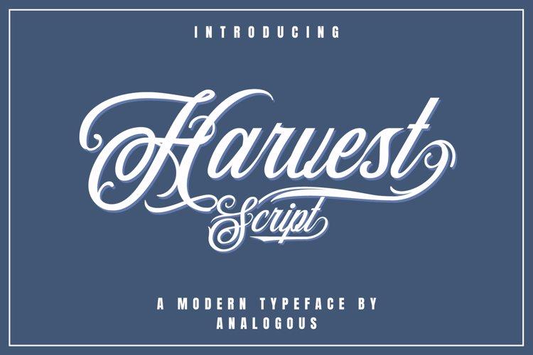 Harvest Script | Modern Typeface