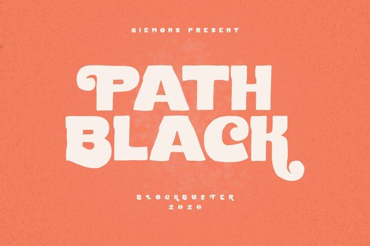 Path Black Typeface example image 1