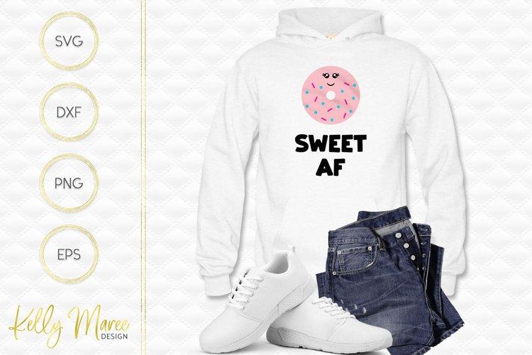 Sweet AF Donut SVG File