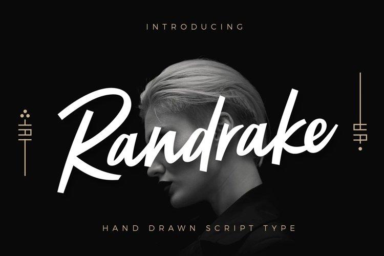 Randrake - Font Script