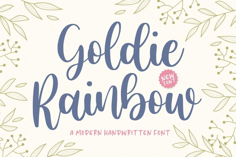 Goldie Rainbow Modern Handwritten Font example image 1