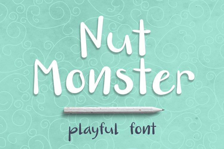 Nut Monster - handdrawn font example image 1