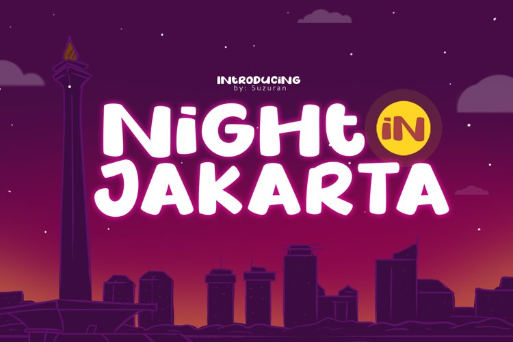 Night in Jakarta example image 1