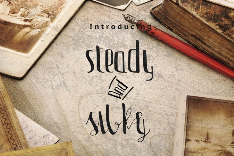Steady & Silky Typeface + Extras example image 1