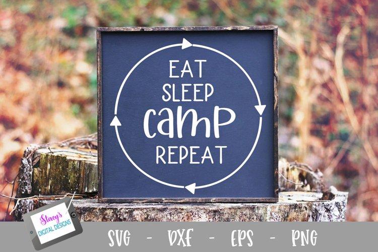 Camping SVG - Eat Sleep Camp Repeat SVG
