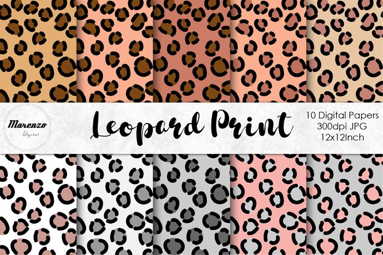 Leopard Print Digital Papers example
