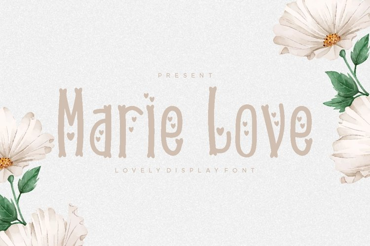 Marie Love Font example image 1