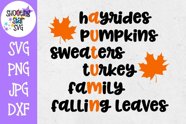 Autumn Subway Art SVG - Fall Words SVG - Autumn Words SVG example image 1