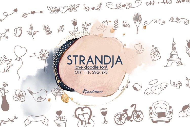 Web Font Strandja - Love Doodle Font