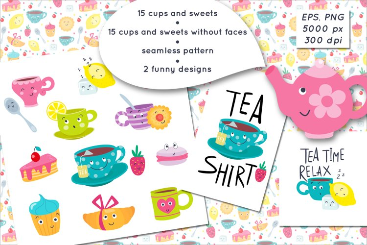 Cups and sweets funny emojis example image 1