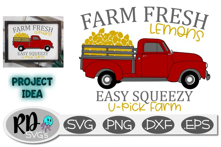 Lemon Farm Truck - A Red Truck SVG for your Cutting Machine example image 1