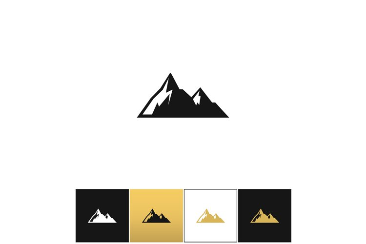 Mountains vector icon example image 1