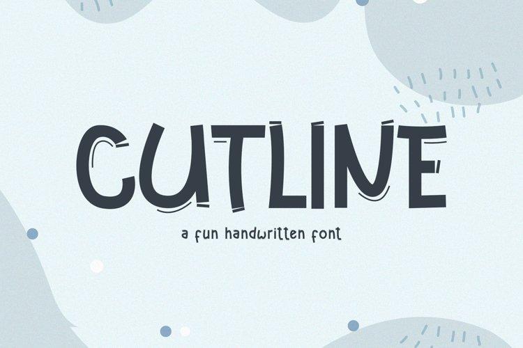 Cutline // A Fun Handwritten Font example image 1