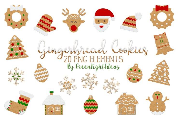 Christmas Gingerbead Cookies Clipart, Christmas Clip Art, Christmas Graphics example image 1