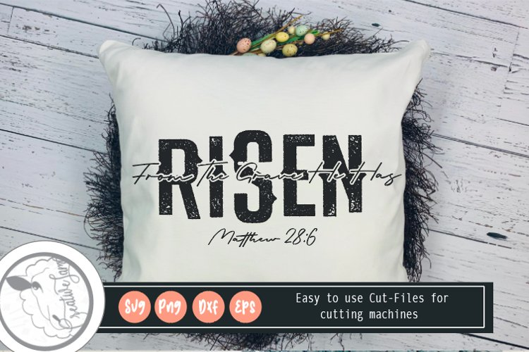 HE IS Risen SVG|Faith Svg|Bible Verse Svg example image 1