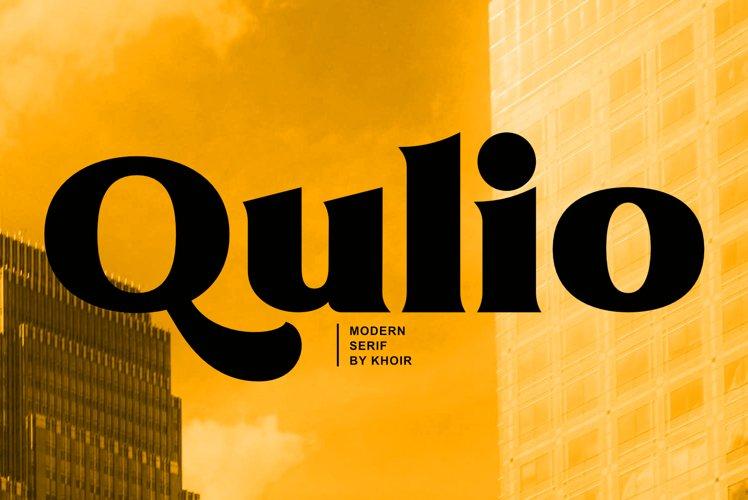 Qulio - Modern Serif