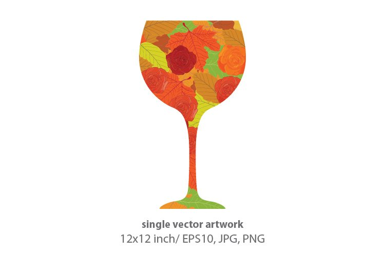 WINE, SINGLE VECTOR ARTWORK example image 1