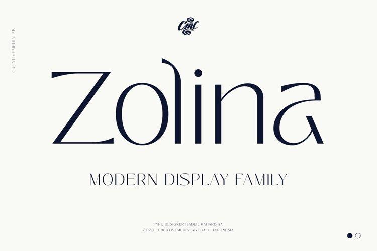 Zolina - Modern Display Font example image 1