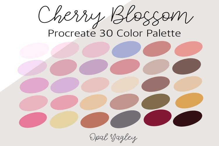 Cherry Blossom Procreate Color Palette / Spring Flower example image 1