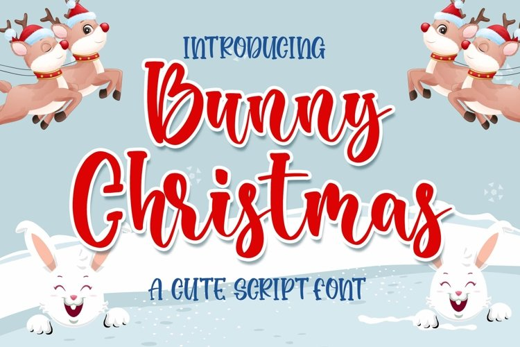 Bunny Christmas Cute Script Font example image 1