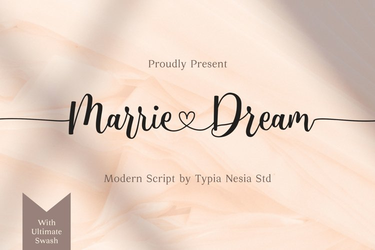 Marrie Dream - Wedding Font example image 1