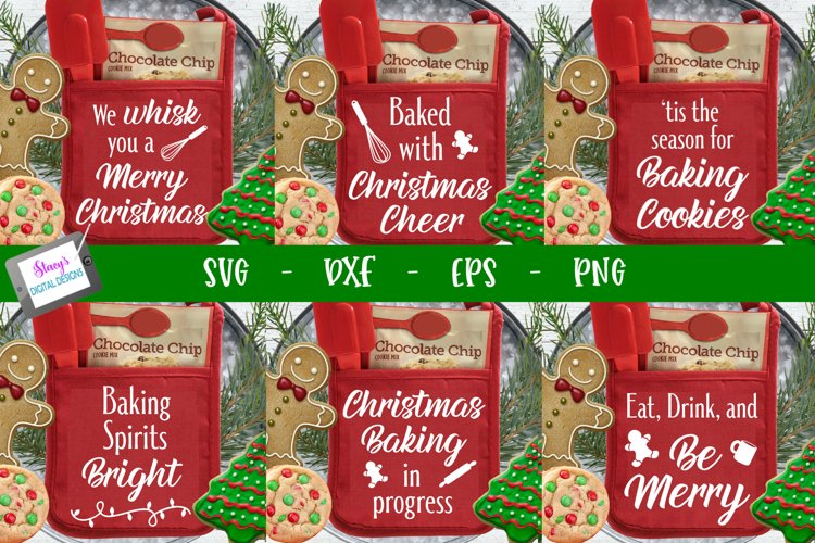 Christmas Pot Holder Bundle - 6 Christmas Pot Holder designs