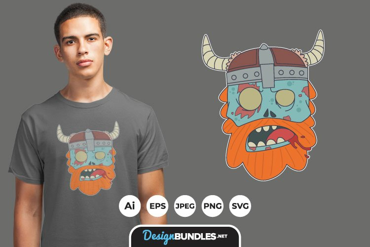 Zombie Viking for T-Shirt Design example image 1