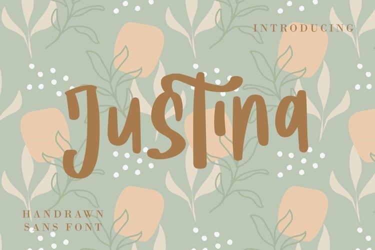 Web Font Justina - Handwritten Fonts example image 1