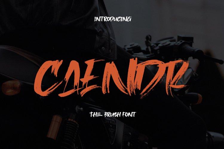 Caendr - Brush Font example image 1