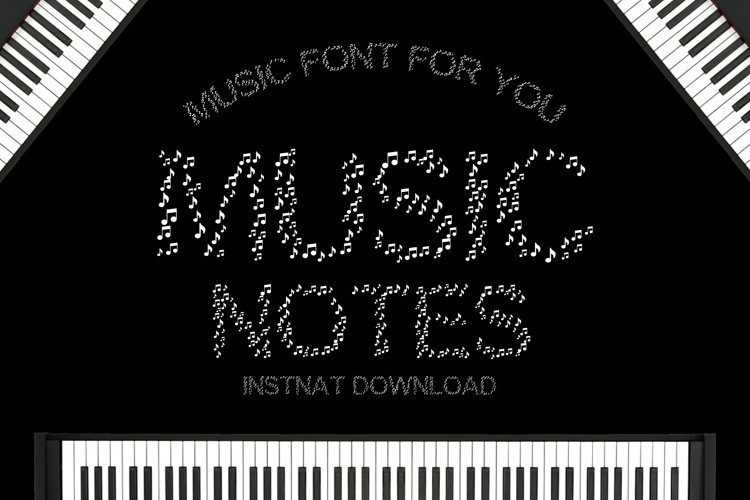 Music Notes - A Cute Educational Font