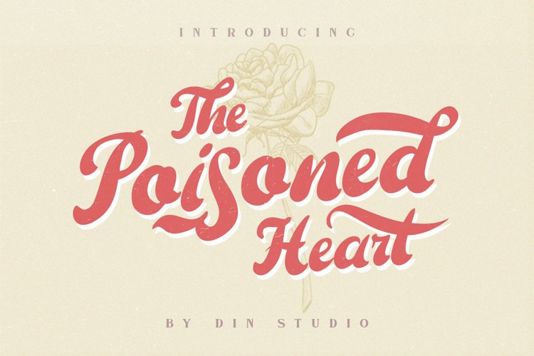 The Poisoned Heart - Retro Vintage Font example image 1